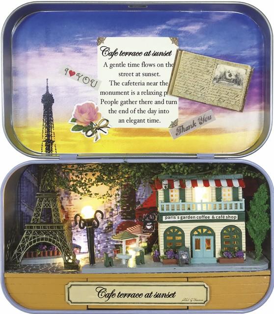 ミニチュアット Miniature't ミニチュアハンドメイドキット 夕暮れのカフェテラス