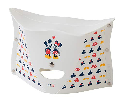 ディズニー PATATTO 180 ミッキーマウス&ミニーマウス ホワイト 折りたたみイス パタット