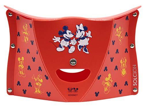 PATATTO 180 ディズニー ミッキーマウス&ミニーマウス レッド 折りたたみイス パタット