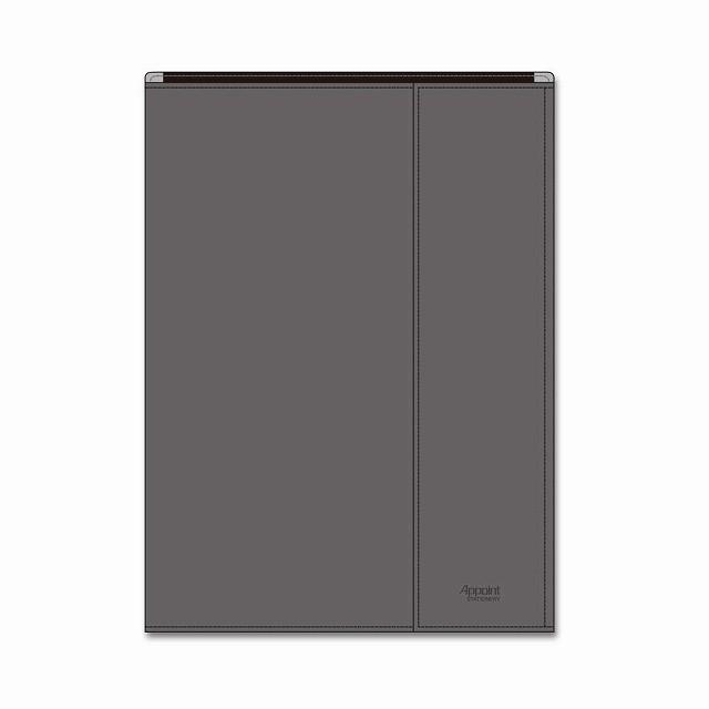 ダイゴー 手帳カバー A5 包むタイプ グレー アポイントステーショナリー N1818