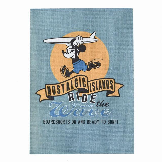 ディズニー サーフスタイル ミッキーマウス B7メモ ブルー A1315