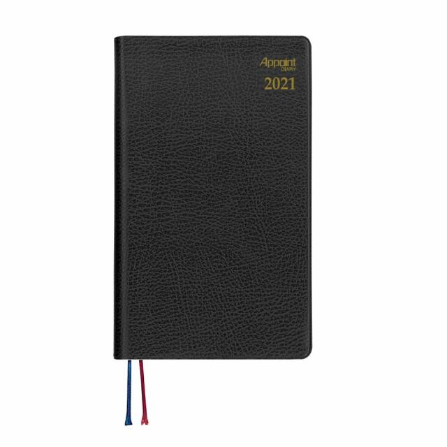 手帳 2020年9月始まり Appoint 1週間+横罫 手帳サイズ ブラック シボ加工 144×86mm