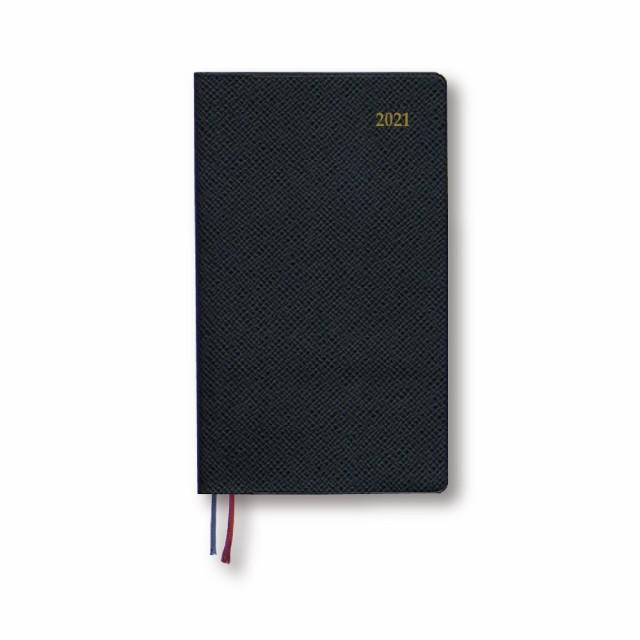 手帳 2020年9月始まり Appoint 1週間バーチカル 手帳サイズ ブラック 144×86mm
