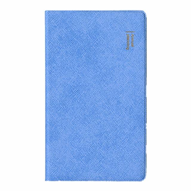 手帳 2020年9月始まり ダイアリー 薄型 1ヶ月ブロック 手帳サイズ ブルー