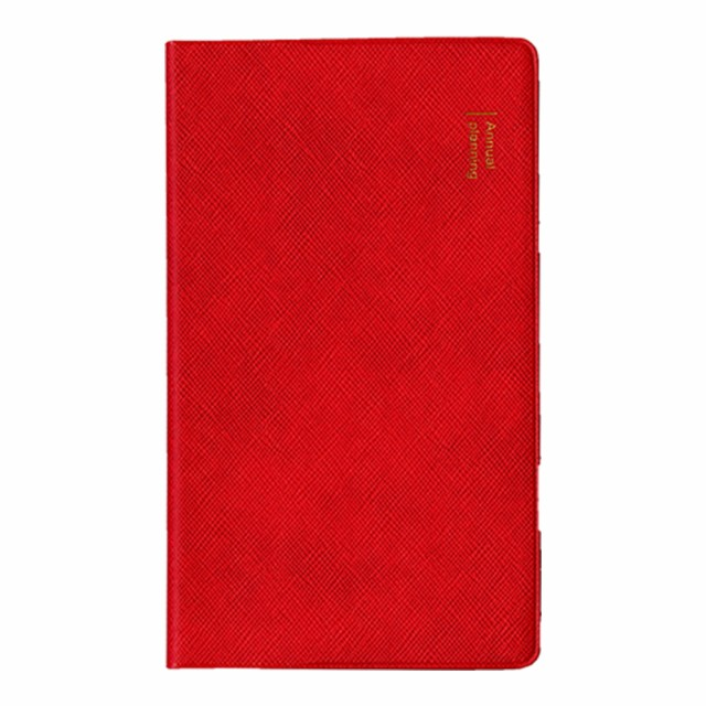 手帳 2020年9月始まり ダイアリー 薄型 1ヶ月ブロック 手帳サイズ レッド
