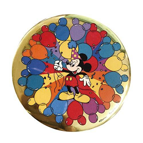 ディズニー 缶バッジ カンバッジ ミッキーマウス パーティーバルーン ノスタルジカ