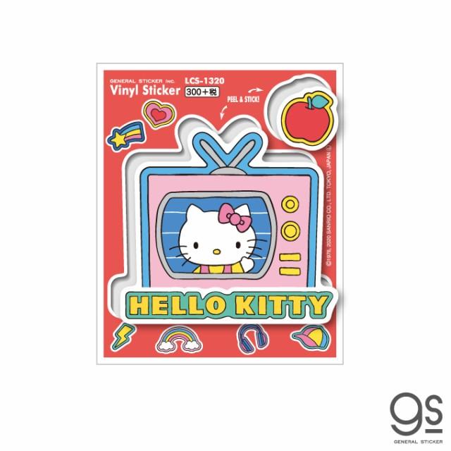 ハローキティ キャラクターステッカー サンリオ ポップ レトロ ミュージック イラスト LCS1320 gs 公式グッズ