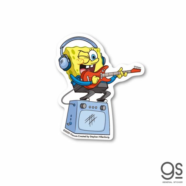 スポンジ・ボブ ミニステッカー ギター キャラクターステッカー アメリカ アニメ SpongeBob SPO018 gs 公式グッズ