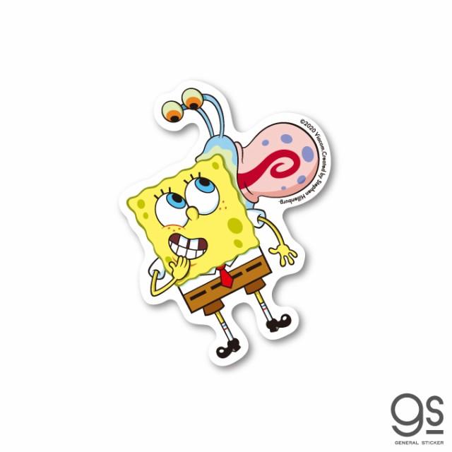 スポンジ・ボブ ミニステッカー ボブ ゲイリー キャラクターステッカー アメリカ アニメ SpongeBob SPO024 gs 公式グッズ