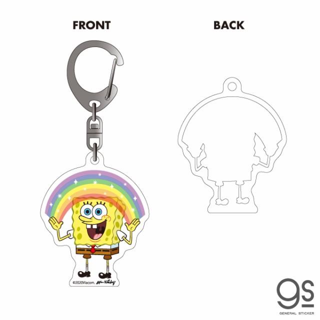 スポンジ・ボブ アクリルキーホルダー RAINBOW キャラクターグッズ アメリカ アニメ SpongeBob SPO026 gs 公式グッズ