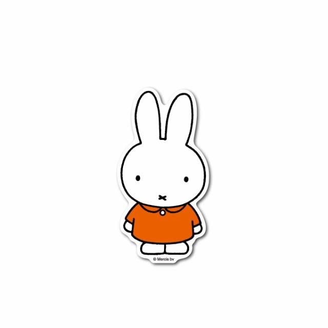 miffy ミッフィー キャラクターステッカー 絵本 イラスト かわいい こども ダイカット うさぎ うさこちゃん 人気 MIF001