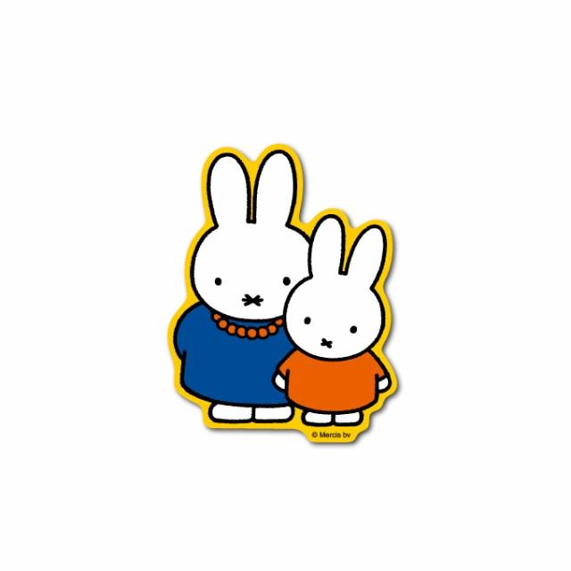miffy ミッフィー おかあさん キャラクターステッカー 絵本 イラスト かわいい こども ダイカット うさぎ うさこちゃん MIF005