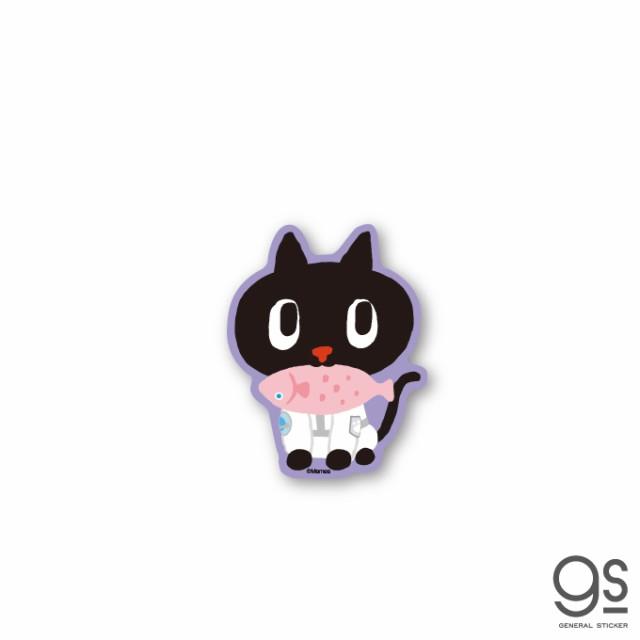 クロロ さかな 赤 キャラクターステッカー ダイカットステッカー kuroro 猫 黒猫 ねこ 宇宙 台湾 TVT008 gs 公式グッズ