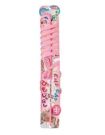 ペッツルート カシャカシャ ひもじゃらし ピンク 猫 おもちゃ 猫じゃらし 日本製 猫おもちゃ 紐 ひも おすすめ じゃらし棒 人気 猫用