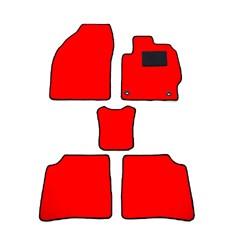 天野 AMANO パッソ/セッテ 年式:H20 型式:M502E フロアマット一式 無地 [カラー:レッド] カー用品