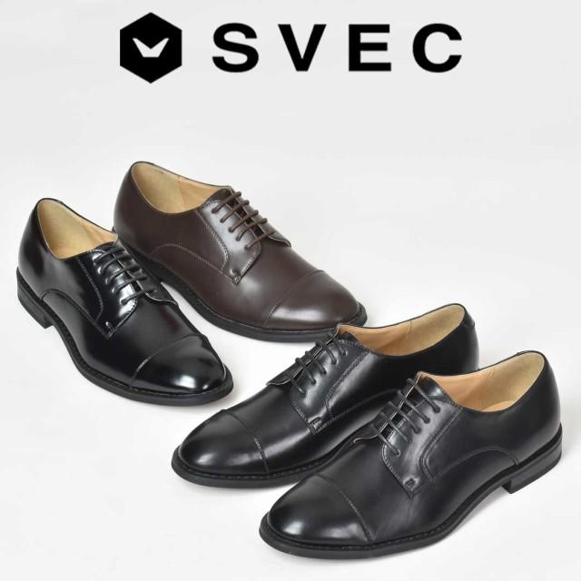 オックスフォード レースアップ ストレートチップ 外羽根 メンズ カジュアル シューズ 男性用 紳士靴 くつ SVEC シュベック SPT366,5