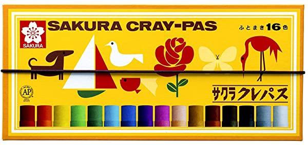 サクラクレパス クレパス 16色 ゴムバンド付き LP16R 送料無料