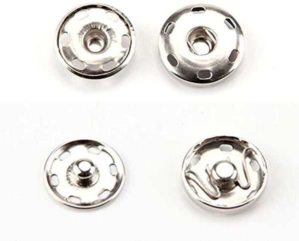 スナップボタン 金属スナップ 金属ボタン 縫製ボタン ジーンズボタン アクセサリー材料 ハンドメイドパーツ シルバー ドットボタ
