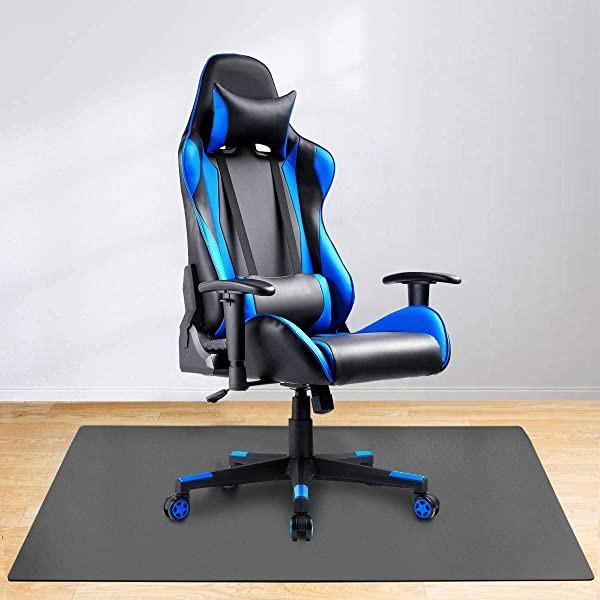 チェアマット ゲーミングチェアマット 床保護マット マット ずれない キズ防止 防音 椅子 机下 床 床暖房 PVC 90*120cm 厚さ1.5mm 黒