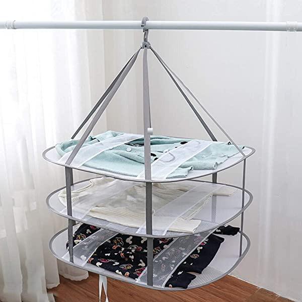 物干しネット 3段 平干しネット 衣類変形防止 ニット干し 平置きネット折りたたみ収納 防風