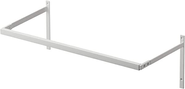 伸縮浴室扉前物干しハンガー ホワイト 約W55XD25.5XH18cm プレート 伸縮式 室内干し ハンガーラック 壁面収納