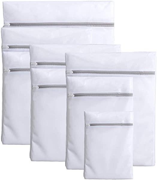 洗濯ネット 8枚入 ランドリーネット洗濯袋セット 再利用可能な丈夫な細かいメッシュの洗濯袋 ネット 洗濯用品 旅行収納袋 家庭用...