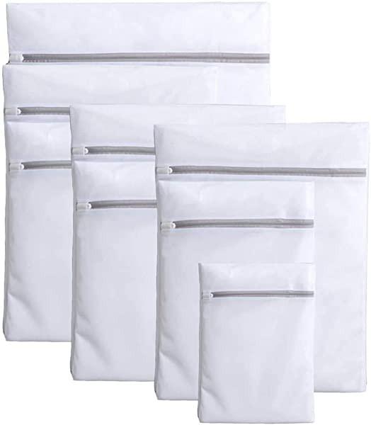 洗濯ネット 7枚入 ランドリーネット洗濯袋セット 再利用可能な丈夫な細かいメッシュの洗濯袋 ネット 洗濯用品 旅行収納袋 家庭用...