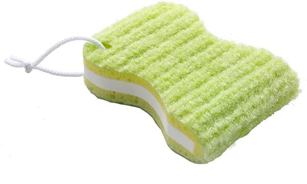 洗濯用品 泥汚れ ブラシ 洗濯ブラシ ゴシゴシ洗濯クリーナー スポンジ 両面 握りやすい びっくりフレッシュ グリーン 日本製