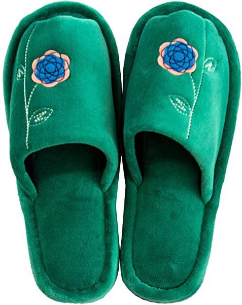 洗えるスリッパ グリーン 足のサイズ 約24cmまで エトフトォワ 北欧