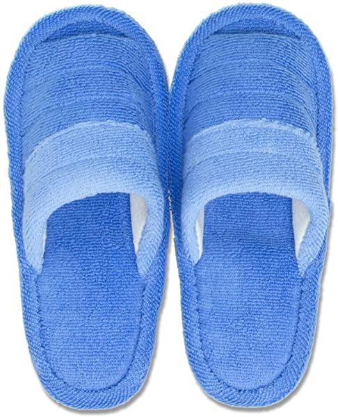 スリッパ ブルー 足のサイズ 約25cmまで フレッシュデオ 洗える