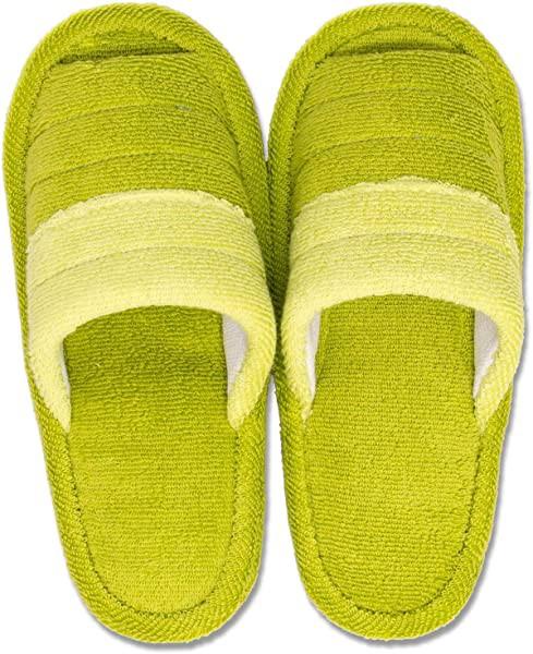 スリッパ グリーン 足のサイズ 約25cmまで フレッシュデオ 洗える