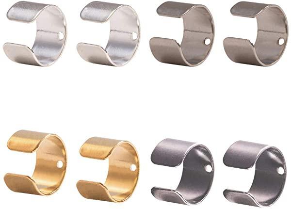 イヤークリップ クリップ式 真鍮製 5色 約200個 クリップオン イヤリング ピアスパーツ イヤリング表面穴ある 防錆 耐久 金具 DI...