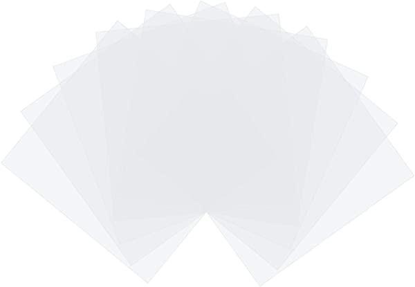 包装用シール 50個 ヒューズビーズアイロン用紙 まっ四角 透明 熱安定性 アイロンペーパー キッズビーズクラフト用 150x150x0.1mm