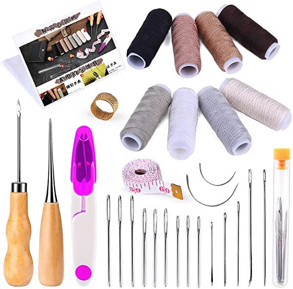 ミシン糸 30点 縫製セット 縫い針 千枚通し 巻尺付き 家庭用裁縫セット 手芸