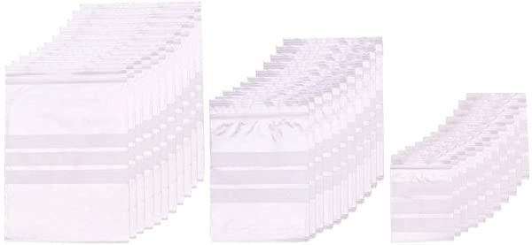 OPP袋 ラッピング袋 約300枚/セット 3種ギフトバッグ 縞模様 チャック付 透明 ポリ袋 保存袋 小分け 収納袋 ビーズ パーツ アク...