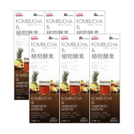 【送料無料】 KOMBUCHA 植物酵素 720mL 【6本セット】【お取り寄せ】(4954007016488-6)