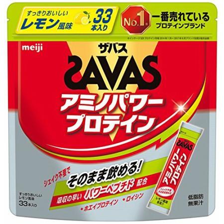 明治 ザバス アミノパワープロテイン レモン風味 4.2g×33本 【6個セット】【お取り寄せ】(4902777301501-6)