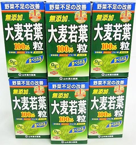 送料無料 山本漢方製薬(株) [6個セット]大麦若葉青汁粒100% 280粒入り×6個 ・7700円以上お買上げで全国配送料無料