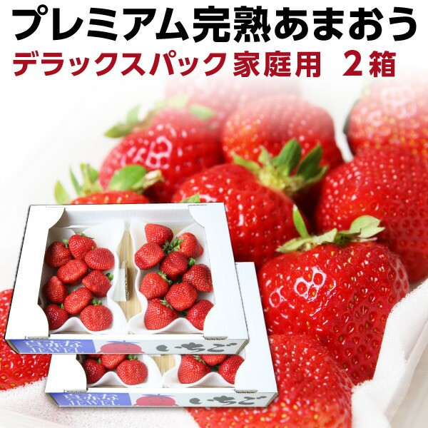 あまおう 福岡産 完熟あまおう 280g以上×4パック いちご 苺 ご家庭用 農家直送 デラックスパック 2箱