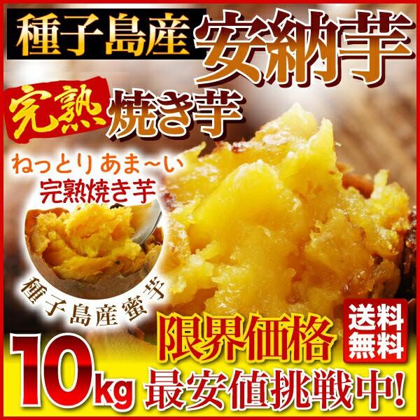 安納芋の焼き芋 さつまいも やきいも 10kg 送料無料 ひんやりスイーツ元祖冷やし芋 冷凍焼き芋 種子島産プレミア蜜芋使用 クール便