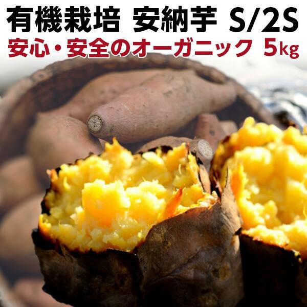 有機 プチ安納芋 安納いも あんのう芋 早割 蜜芋 五島列島 オーガニック S/2Sサイズ 5kg