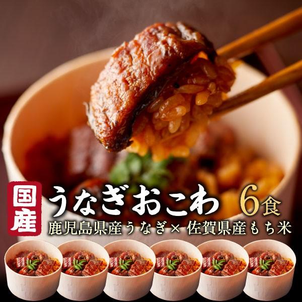 ギフト お歳暮 うなぎ おこわ 鰻 国産 高級 6食セット unagi プレゼント 送料無料 クール プレゼント