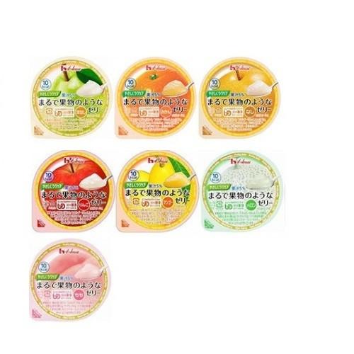 【アソートセット】介護用食【ハウス食品】やさしくラクケア まるで果物のようなゼリーバラエティ7種類パック 60g×各1個(もも・メロン