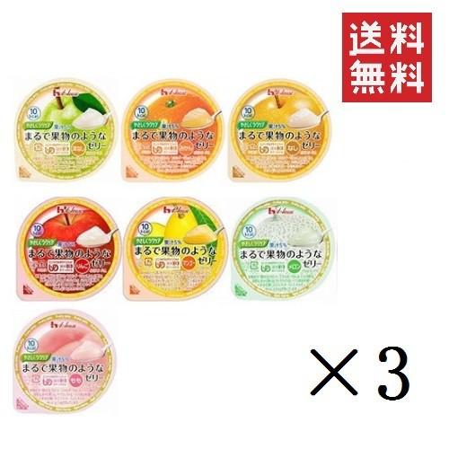 【アソートセット】介護用食【ハウス食品】やさしくラクケア まるで果物のようなゼリーバラエティ7種類パック×各3個 計21個 (UDF区分3: