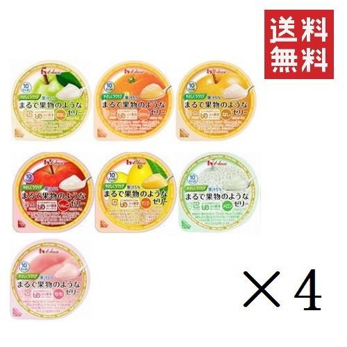 【アソートセット】介護用食【ハウス食品】やさしくラクケア まるで果物のようなゼリーバラエティ7種類パック×各4個 計28個 (UDF区分3: