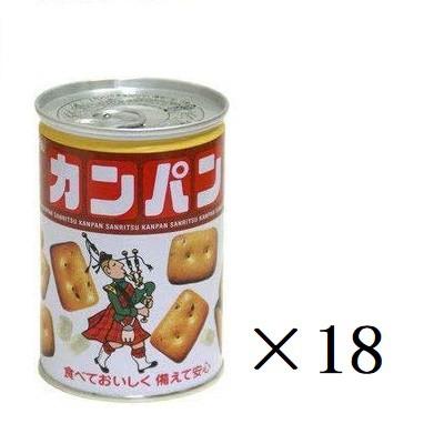 三立製菓 缶入り カンパン 100g×18缶 乾パン 非常食 保存食 備蓄 ビスケット まとめ買い