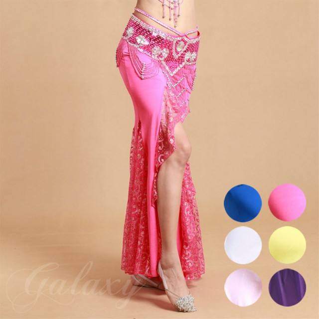 ベリーダンス 社交ダンス インドダンス 6色 ロング スカート レッスン着 練習服 舞台 ダンス衣装 vfq-6036