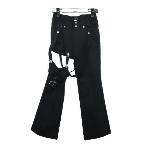PEACE NOW「M」悪魔的アシンメトリーコウモリガーターパンツ (BLACK ブラックピースナウ BPN) 058507