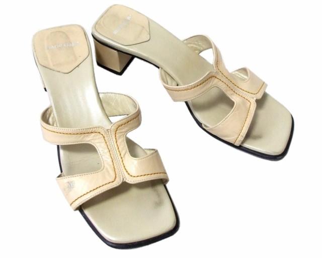 Marie Claire マリクレール「L」レザーサンダル (靴) 095684