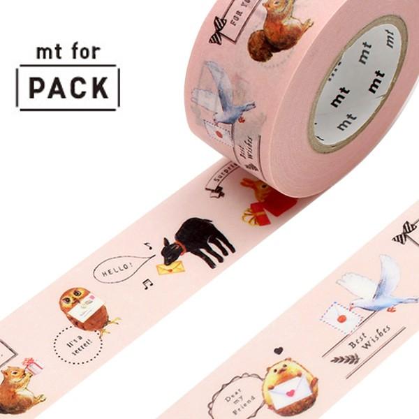 【最大1000円OFFクーポン配布中】 クラフトテープ 粘着テープ mt for PACK 動物たち 幅25mm ( ガムテープ テープ おしゃれ 動物 アニマ